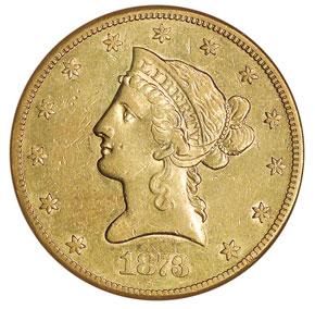 1873 CC $10 MS obverse
