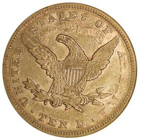 1878 $10 MS reverse