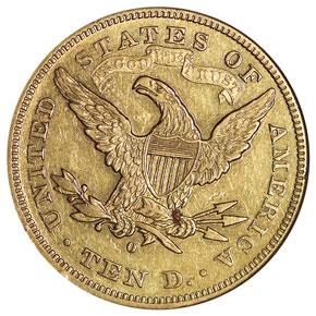 1879 O $10 MS reverse