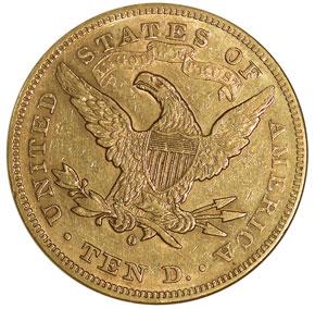 1880 O $10 MS reverse