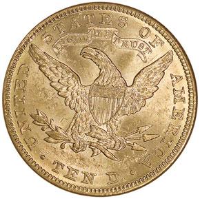 1882 $10 MS reverse