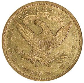 1883 O $10 MS reverse