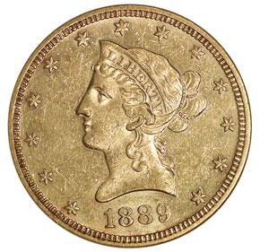 1889 $10 MS obverse
