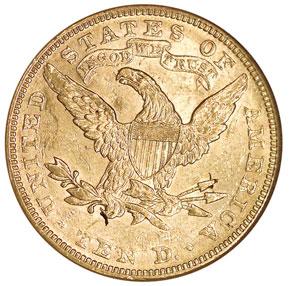 1892 $10 MS reverse