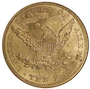 1893 $10 MS reverse