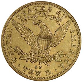 1893 CC $10 MS reverse