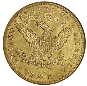 1893 O $10 MS reverse