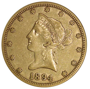 1894 S $10 MS obverse