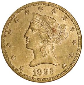 1895 $10 MS obverse