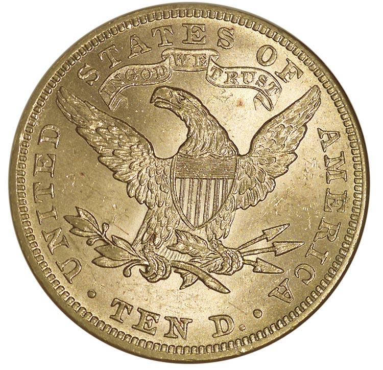 1895 $10 MS Liberty Head $10 | NGC