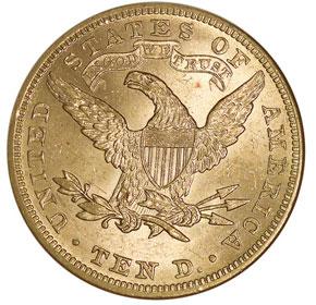 1895 $10 MS reverse