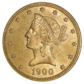 1900 $10 MS obverse