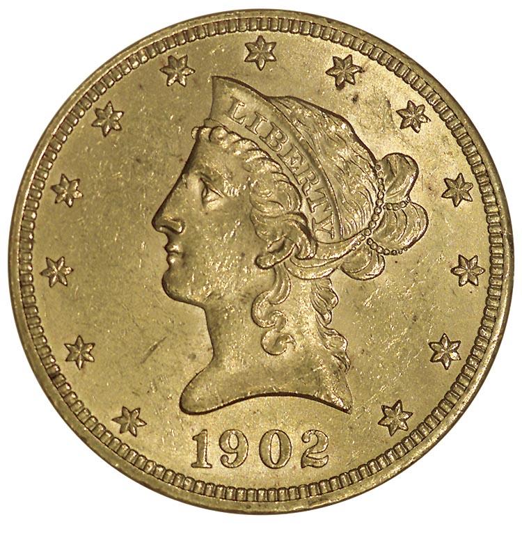 1902 10 Ms Liberty Head 10 Ngc