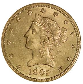 1902 S $10 MS obverse