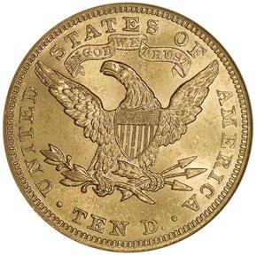 1903 $10 MS reverse