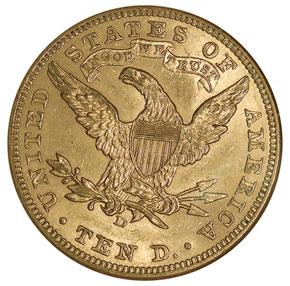 1907 D $10 MS reverse