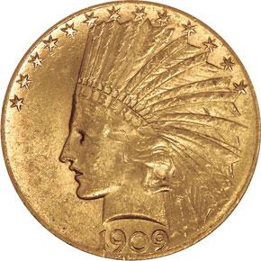 1909 S $10 MS obverse
