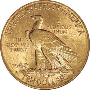 1911 S $10 MS reverse