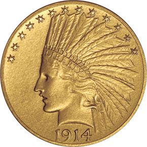 1914 $10 PF obverse