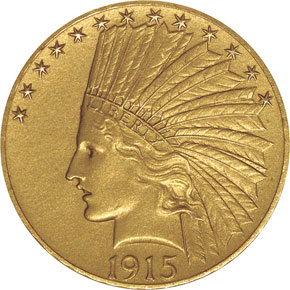 1915 $10 PF obverse