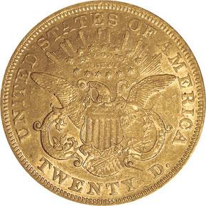 1869 $20 MS reverse
