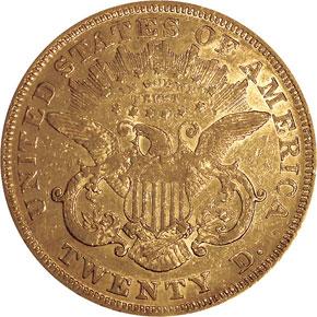 1871 $20 MS reverse