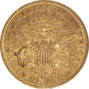 1871 S $20 MS reverse