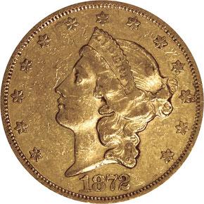 1872 $20 MS obverse