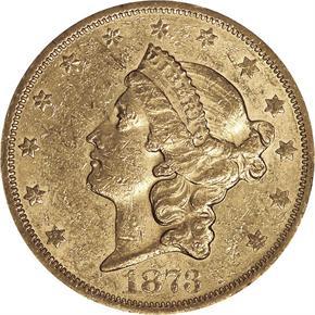 1873 S $20 MS obverse