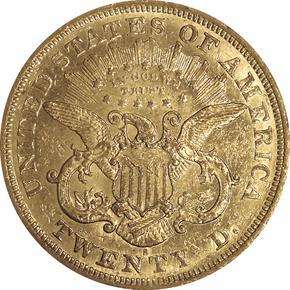 1873 S $20 MS reverse