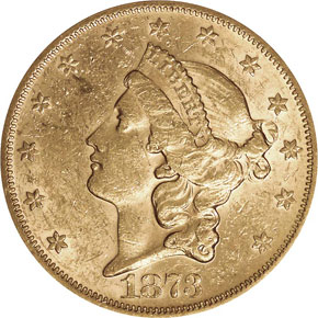 1873 S OPEN 3 $20 MS obverse