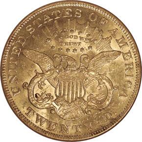 1875 CC $20 MS reverse
