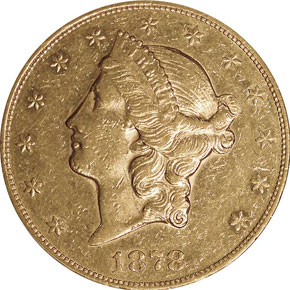 1878 CC $20 MS obverse