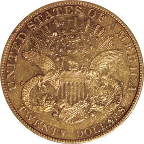 1886 $20 MS reverse