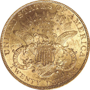 1888 $20 MS reverse
