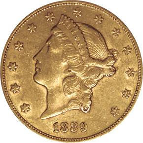 1889 $20 MS obverse