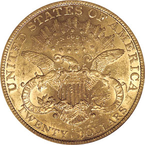 1890 $20 MS reverse
