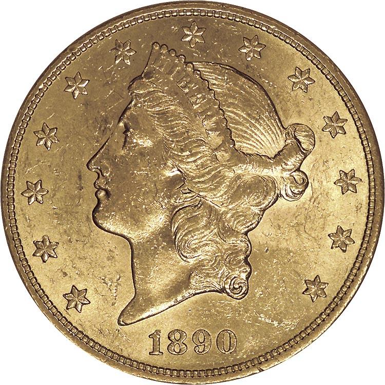 1890 S $20 MS Liberty Head $20 | NGC