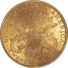 1890 S $20 MS reverse