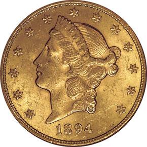 1894 S $20 MS obverse