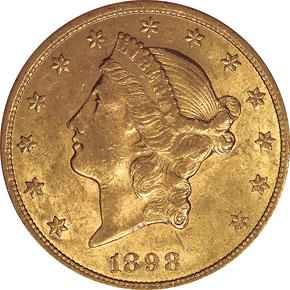 1898 $20 MS obverse
