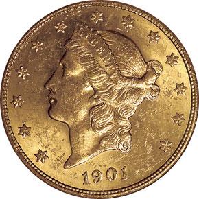 1901 S $20 MS obverse