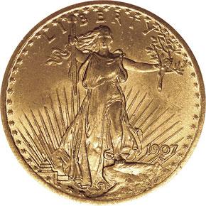 1907 SAINT GAUDENS $20 MS obverse