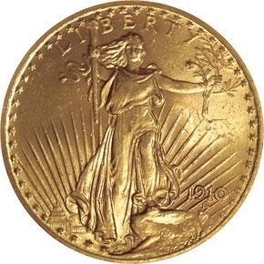 1910 $20 MS obverse