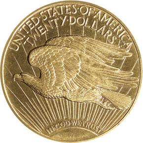 1910 $20 PF reverse