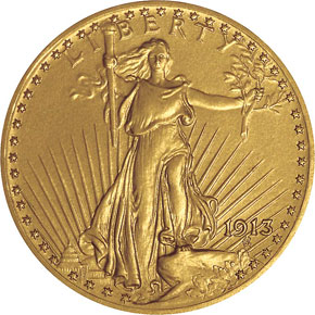 1913 $20 PF obverse
