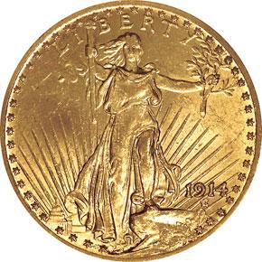 1914 $20 MS obverse