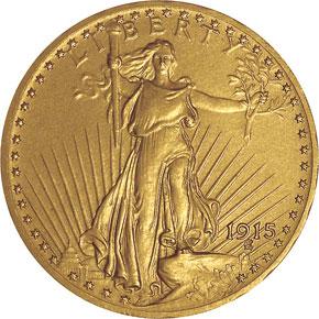 1915 $20 PF obverse