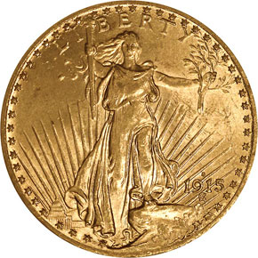 1915 S $20 MS obverse