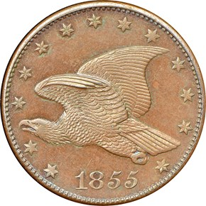 1855 J-168 1C PF obverse